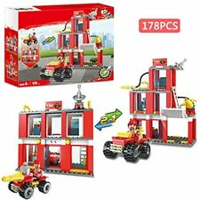 City Fire Station Truck Fighter Building Set Engine Vehicles Juniors Present For