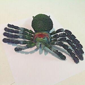 Vintage Hard Rubber Jiggler Scary Tarantula Spider Halloween Fangs Hairy Toy Fun
