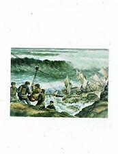 CORNOSH POST CARD TITLED THE LIZARD 1911 ART CARD BY GEORGE HOOKER