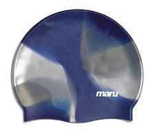 Maru Multi Silicone Swim Hat Blue/Silver Silicone
