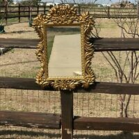 32106 Vintage Mid Century Gold Syroco Wall Mirror  ~ Hollywood Regency era