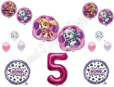 SKYE & EVEREST 5th Paw Patrol Birthday Party Balloons Decoration Supplies Fifth