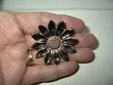 Rare Vintage Signed CORO STERLING CRAFT Rose/Gold Tone Flower Fur Dress Clip