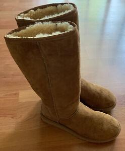 UGG Australia 5815 Tall Classic Shearling Winter Boots Tan Chestnut Size W8