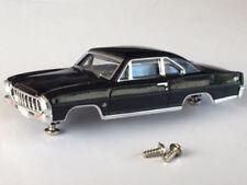New 1966 Black Chevy Nova ll SS HO Slot Car Body Fits Aurora & Dash Tjet Chassis