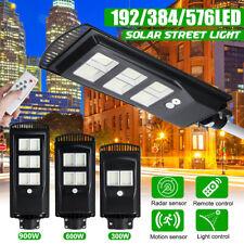 Luz de calle 576LED 900W Solar Sensor De Movimiento Infrarrojo Pasivo Jardín Al Aire Libre Lámpara de pared + Control Remoto