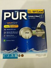 Pur Faucet with Maxion Filter Technology, Includes 2 Filters,CleanSensor Monitor
