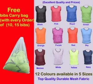 Football Bibs - THE ULTIMATE PRO TRAINING BIBS (All Sizes and Colours)