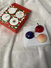 TONY MOLY Mini Lip Balm Set Blueberry Peach Cherry