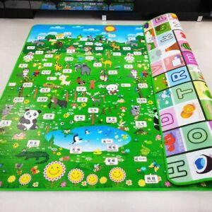 Foldable Cartoon Baby Mat 200x180cmx1cm Puzzle Children Kids Play Mat Pad Rug