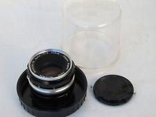 RARE Nikon 5cm f:2 Nikkor-S Nippon Kogaku Japan Tick Mark lens for early F LQQK
