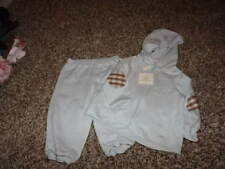 NWT NEW BURBERRY 9M 9 MONTHS BLUE HOODIE JACKET AND PANTS SET