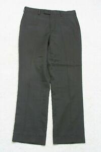 """Louis Raphael Black Dress Pants Size Large 34"""" X 32"""" Flat Front Man's Men's P182"""