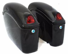 Hard Saddle Bags Trunk Luggage w/Lights for Honda Shadow Cruiser Motorcycle Bike