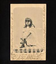 (RUCO 101) Switzerland 1905 Zurich Zürich pictorial card Girl