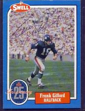 Hall of Fame New York Giants FRANK GIFFORD 1988 SWELL autograph signed card