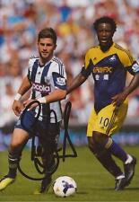 WEST BROM: SHANE LONG SIGNED 6x4 ACTION PHOTO+COA