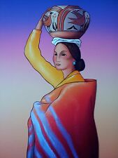 "RC Gorman, ""Acoma Maiden"" Stone Lithograph 19X24 1990-1999 154/200"
