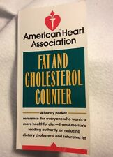 AMERICAN HEART ASSOCIATION FAT AND CHOLESTEROL COUNTER POCKET REFERENCE