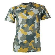 Bequem sitzende unifarbene Herren-T-Shirts mit Camouflage-Muster