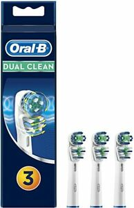 3X Braun Oral-B Dual Clean Replacement Toothbrush Brush Heads- Brand New-28% OFF