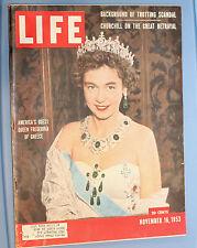Vintage Life Magazine - November 16, 1953 Queen Frederika of Greece