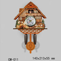 Cuckoo Wall Clock Vintage Wooden Clock Home Decor Excellent Gift for Kids