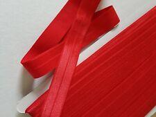 1,50€/m Gummiband,Falzgummi,Einfasgummi,Foldover Gummi in rot glänzend 3mx20mm