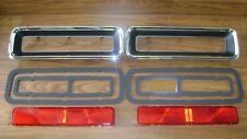 Tail Lamp Kit 8pc 67 RS Camaro Chrome Bezels Lens + Gaskets *In Stock tail light