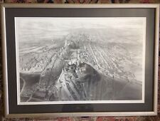 Edinburgh from Calton Hill Antique Map Art by L. T.  Dolby 1875