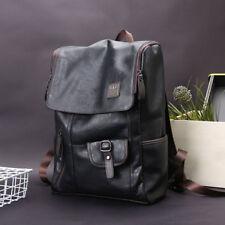 Men's Leather Laptop Backpack Shoulder Bag Weekender Travel Notebook School Bags