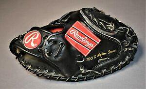 Rawlings Black Catcher's Mitt YOUTH Baseball Glove RCM 45 B Mike Piazza Lite Toe