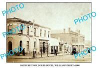 OLD LARGE PHOTO OF BATHURST NSW DUKES HOTEL WILLIAM St c1880