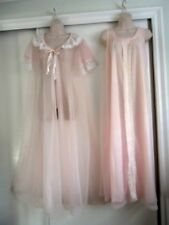 VINTAGE TOSCA PINK NIGHTGOWN & VTG PEIGNOIR ~SIZE SMALL