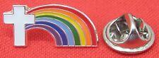 Religious Holy Cross Rainbow Lapel Hat Tie Pin Badge Jesus God Christian Brooch