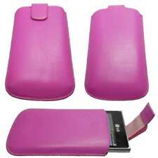 caseroxx Slide-Pouch for LG E400 Optimus L3 in pink made of faux leather