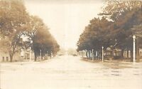 C28/ Sturgis Michigan Mi Real Photo RPPC Postcard 1922 Main Street Homes