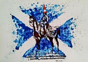 Duke Of Wellington Glasgow Glossy Art Print By Steven Campbell Art