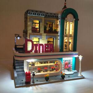 LED Light Lighting Kit ONLY For Lego 10260 Downtown Diner Building Bric