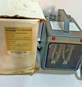 Dayton (1) 3VU37A Electric Convection Heater 3VU37A - 120VAC - 1500W - 12.5A