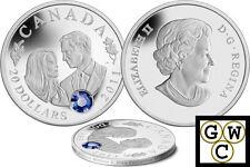 2011 $20 Silver Coin Wedding Celebration-William and Catherine .9999 Fine(12807)