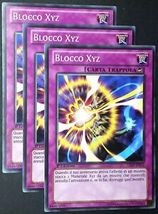 Set 3 Carte : BLOCCO XYZ   LTGY-IT072 Comune in Italiano YUGIOH