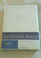 Zondervan NIV Family White Keepsake Bible (2007, Hardcover) ***NEW***