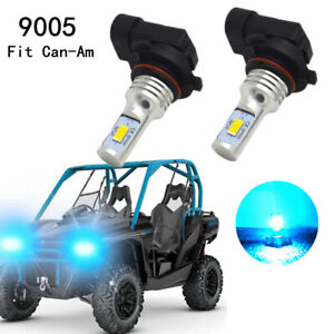 For Can-Am 100W LED 8000K Ice Blue Headlight 5500LM Replace 415129249 Bulbs Kit