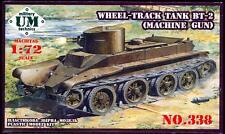 UM-MT Models 1/72 Soviet BT-2 WHEEL TRACK TANK with MACHINE GUN