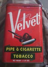 Velvet Pipe & Cigarette Tobacco can Liggett & Myers St. Louis
