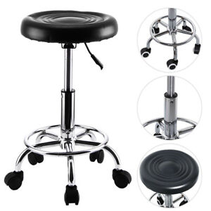 Black Beauty Salon Spa Massage Stool Swivel Chair Hairdresser Tattoo Round