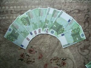 10 x 100 Euro Scheine TV,Theater,Propco,Monopolie,Spiel,Film Geld