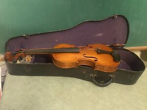 Vtg 1940s Gibson Violinmakers Kalamazoo V15 4/4 Violin w/ Case Excellent Cond
