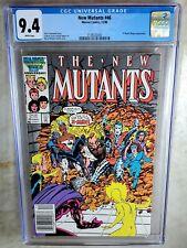 New Mutants #46 NEWSSTAND -  Marvel Comics 1986 CGC 9.4 NM WP - Comic J0091
